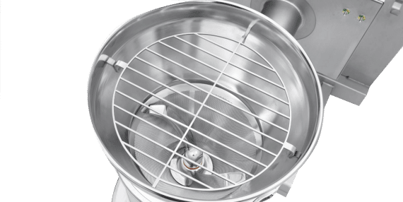 Conical sieve detail