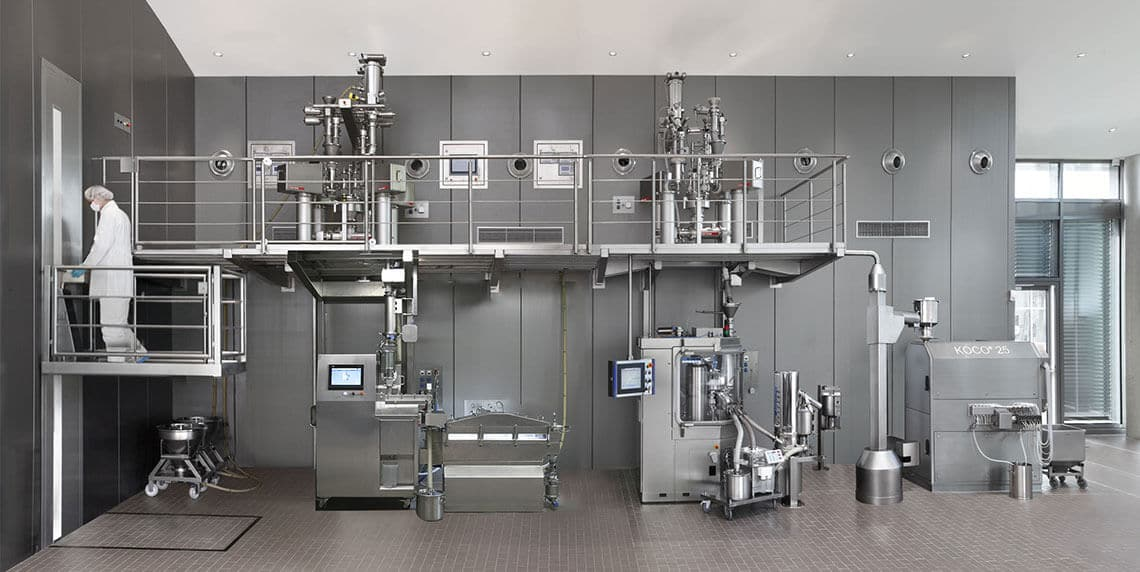 Continuous manufacturing wet granulation